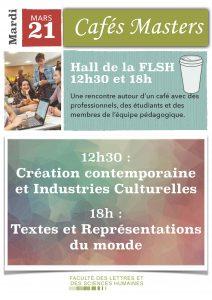 Café Master CCIC et Lettres