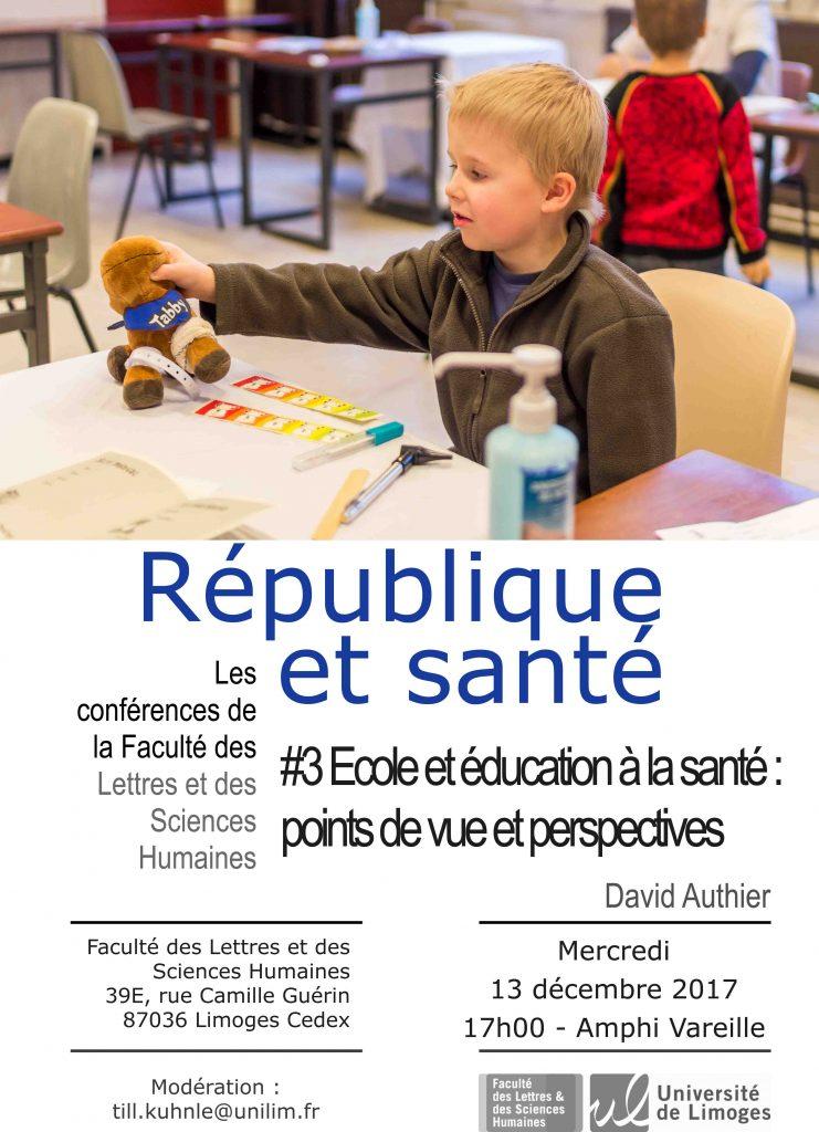 conference école et éducation à la santé